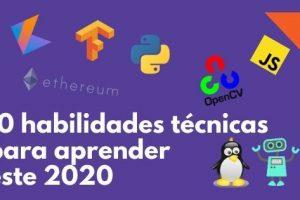 20 habilidades técnicas para este 2020